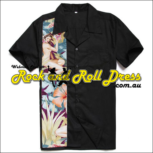 Tropical Paradise rock and roll shirt
