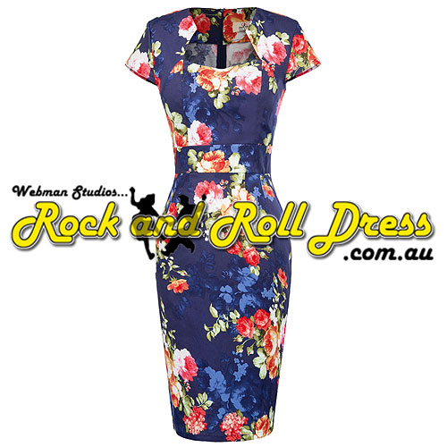 Bridgette floral rock and roll dress S-3XL
