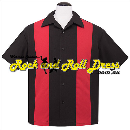 Rock Steady red and black rock and roll shirt