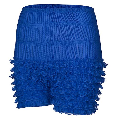 Blue rock and roll frilly dance shorts