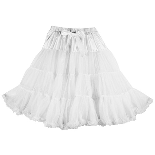 White super-soft rock and roll petticoat