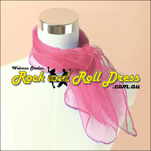 Wine rock n roll chiffon scarf