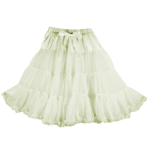 Ivory super-soft rock and roll petticoat