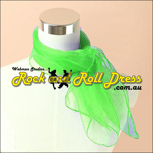 Lime rock n roll chiffon scarf