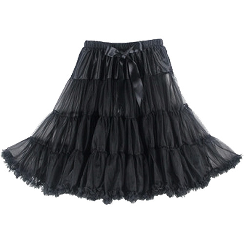 Black super-soft rock and roll petticoat
