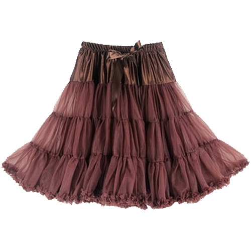 Image of Brown super-soft rock and roll petticoat