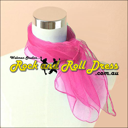 Hot pink rock n roll chiffon scarf