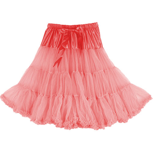 Coral super-soft rock and roll petticoat