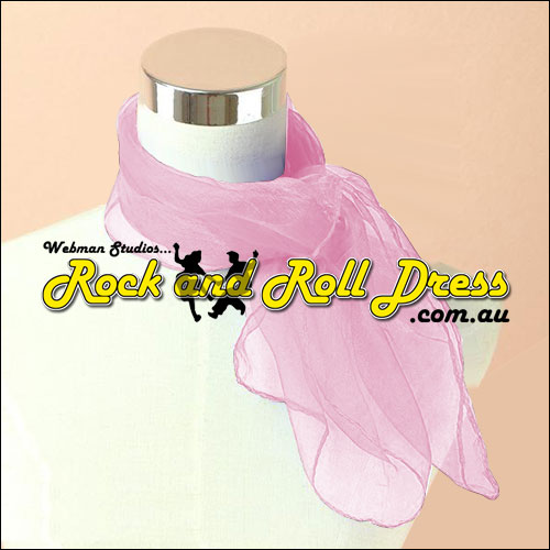 Pink 50s rock and roll scarf