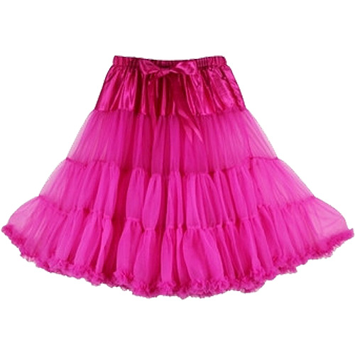 Rosy super-soft rock and roll petticoat