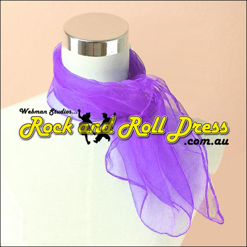 Purple rock n roll chiffon scarf