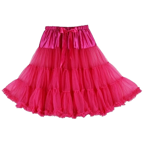 Hot pink super-soft rock and roll petticoat