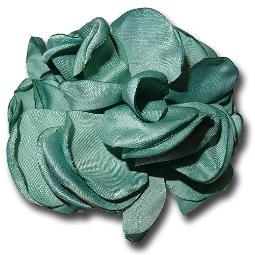 Teal rose silk hair flower clip