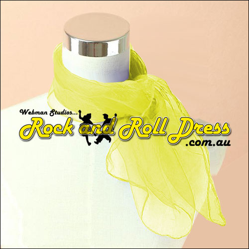 Yellow rock n roll chiffon scarf