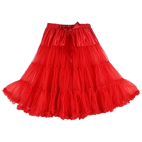 Red super-soft rock and roll petticoat