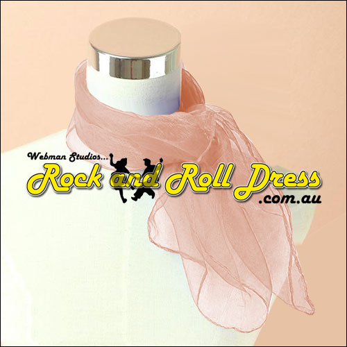 Salmon rock n roll chiffon scarf