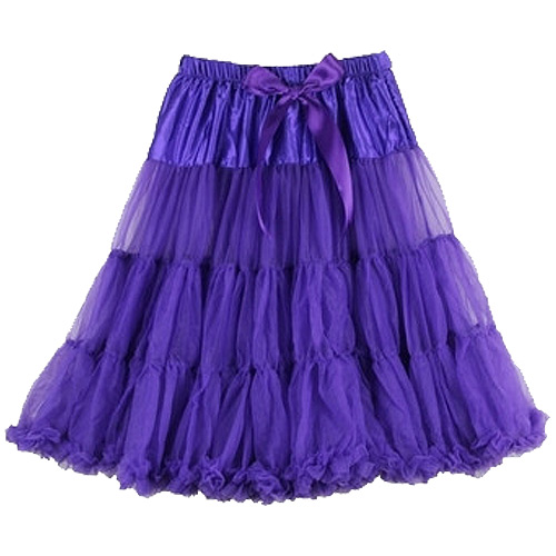 Purple super-soft rock and roll petticoat