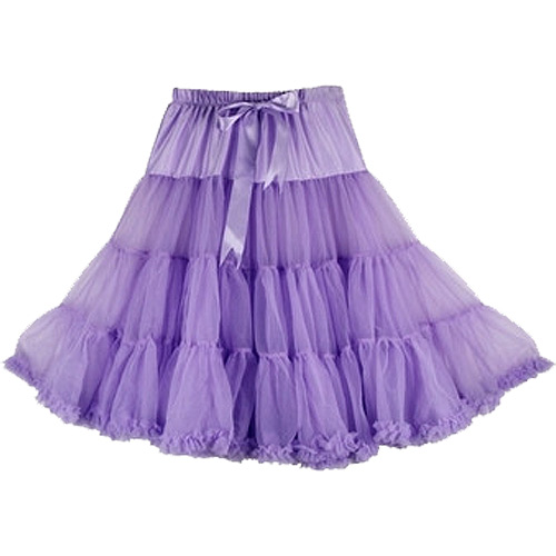 Lavender super-soft rock and roll petticoat