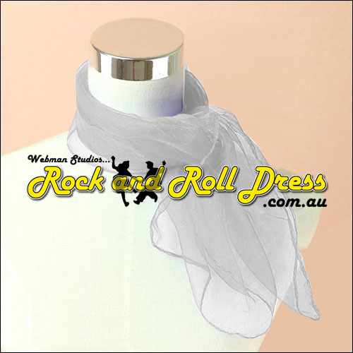 Image of White 50s rock and roll scarf