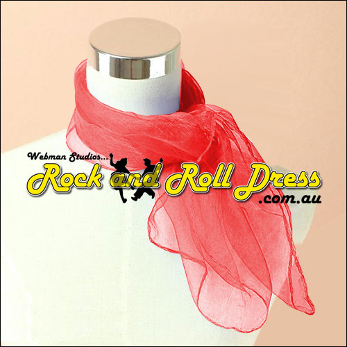 Image of Red 50s rock and roll scarf