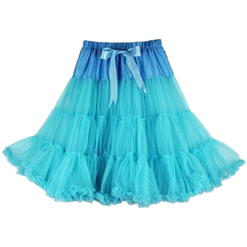 Blue super-soft rock and roll petticoat