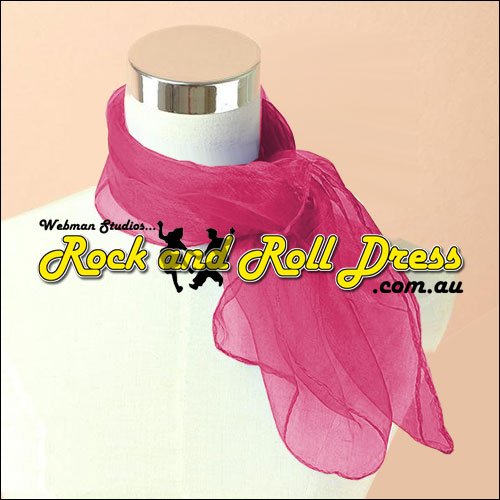 Plum rock n roll chiffon scarf