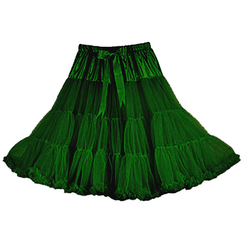 Emerald super-soft rock and roll petticoat