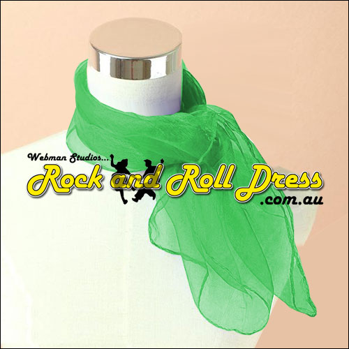 Green rock n roll chiffon scarf