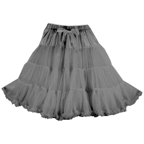 Grey super-soft rock and roll petticoat