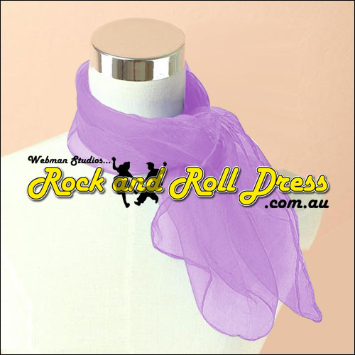Lavender 50s rock and roll scarf