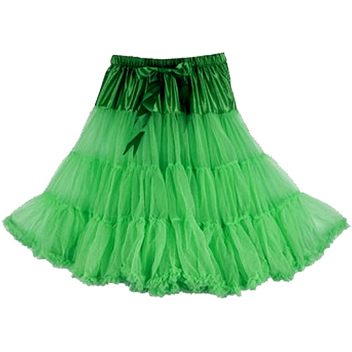Green super-soft rock and roll petticoat