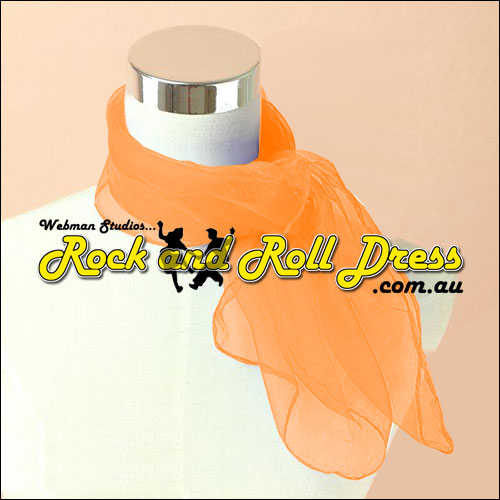 Orange rock n roll chiffon scarf
