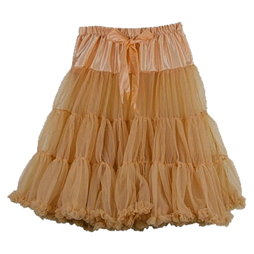 Tan super-soft rock and roll petticoat