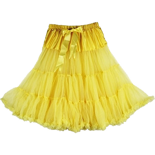 Yellow super-soft rock and roll petticoat