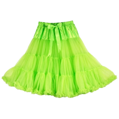 Lime super-soft rock and roll petticoat