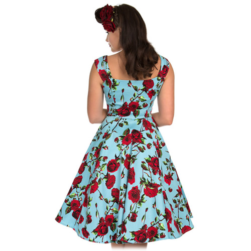 Hearts and Roses Ditsy Rose swing dress in AU Sizes 6-14