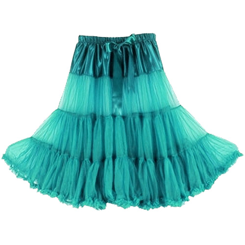 Teal super-soft rock and roll petticoat