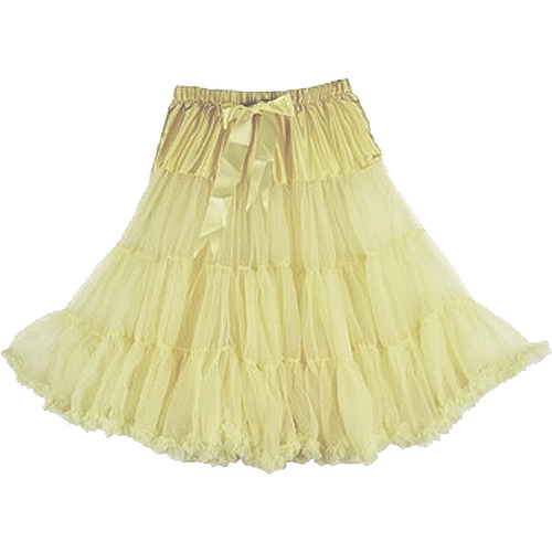 Cream super-soft rock and roll petticoat