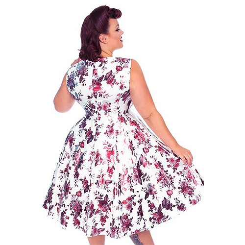 Hearts and Roses Aphrodite plus size swing dress AU Sizes 16-24