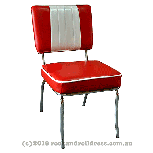 50s red and white diner kitchen chair
