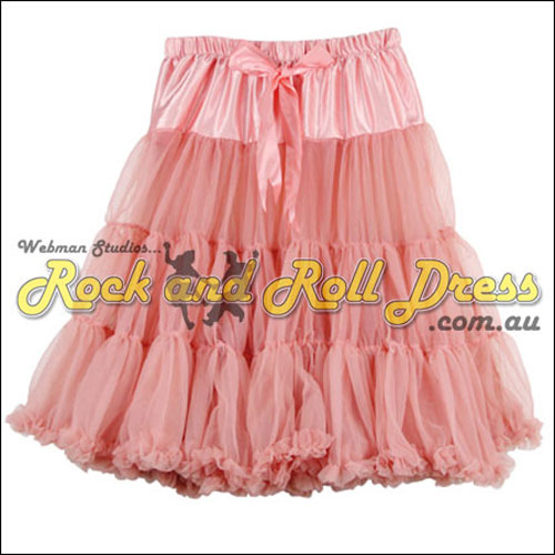 Image of 65cm 1 layer super-soft coral retro vintage petticoat