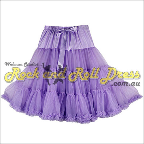 Image of 1 layer super-soft lavender rock and roll petticoat 65cm long