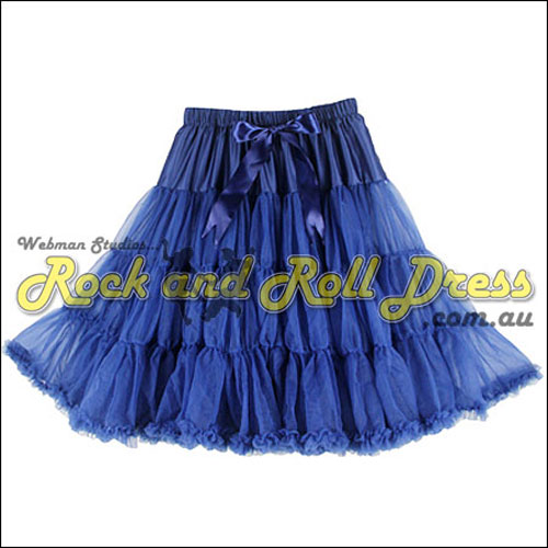 65cm 1 layer super-soft navy rock and roll petticoat