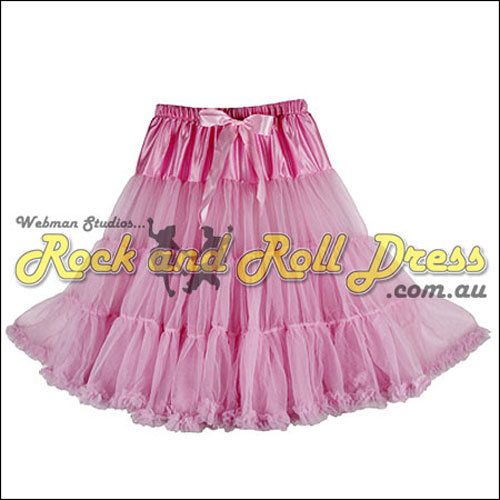 65cm 1 layer super-soft pink rock and roll petticoat