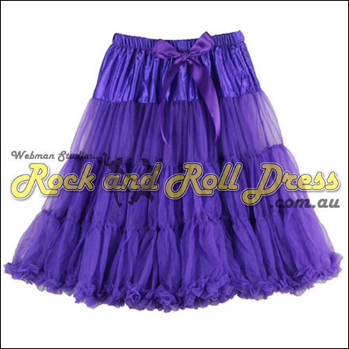 Purple super-soft ruffle petticoat