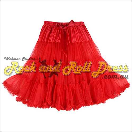 Red super-soft ruffle petticoat