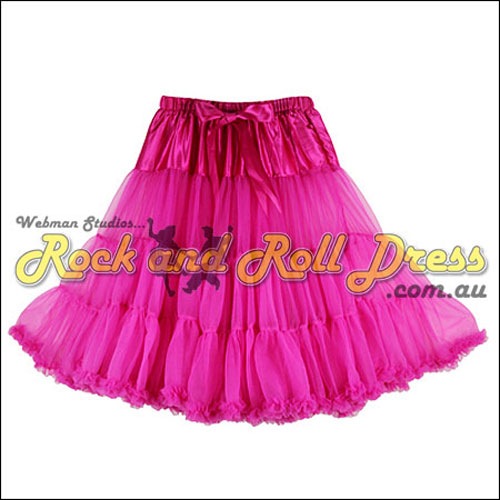 65cm 1 layer super-soft rose rock and roll petticoat