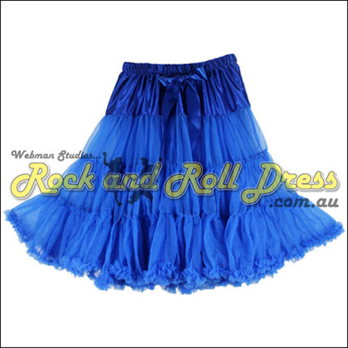 Image of 1 layer super-soft royal blue rock and roll petticoat 65cm long