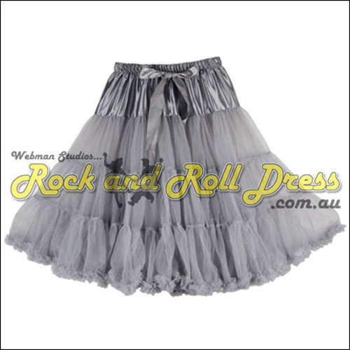 Image of 65cm 1 layer super-soft silver rock and roll petticoat