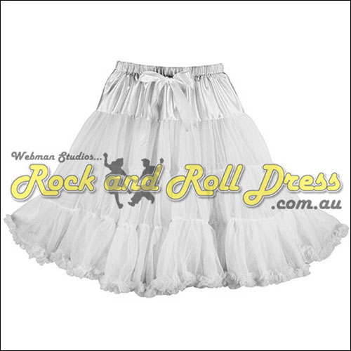 65cm 1 layer super-soft white rock and roll petticoat